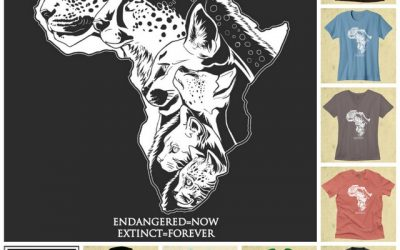 Buy a t-shirt or sweater and support Wild Cats World: Endangered=Now, Extinct=Forever